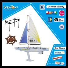 Divertido, auto-montaje, juguete, rc, navegante, barco