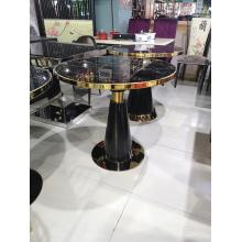 Stainless steel adjustable feet outdoor table