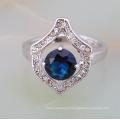 preço de jóias de prata de 1 quilate diamante pino anel de ajuste para as mulheres