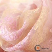 Avental de salão de beleza Tela de peles de organza impressa com redemoinhos de rosas bonitas