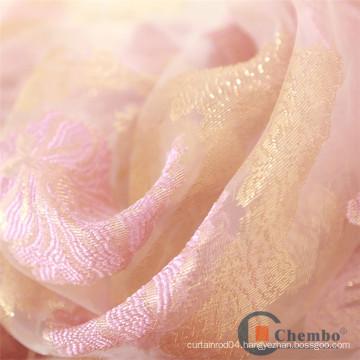Beauty Salon Apron Beautiful Rose Swirl Printed Organza Fur Fabric