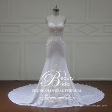 Stylish Pretty slim strapless mermaid wedding dress with no sleeve from Zhongshan China