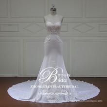 Elegante vestido de noiva sem alças com sereia linda e sem luva de Zhongshan China