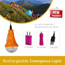 Feux de camping pour la randonnée; Lampe d'urgence portable de voiture de LED; Accueil Kit d'éclairage par des lampes solaires Factory