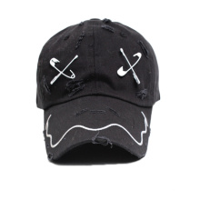 Black Custom 3D Embroidery Baseball Hats for Sale