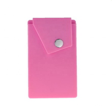 Hotsale silicone mobile phone card holder with stand