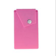 Tenedor de la tarjeta del teléfono móvil del silicón de Hotsale con el soporte