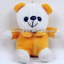 Porte-clés mignon en peluche mini ours en peluche