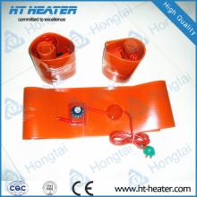 Aquecedor de borracha de silicone para aquecimento de tubo de drenagem