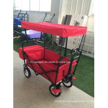 Carro de Canopy color rojo con freno