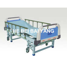 (A-44) -- Movable Three-Function Manual Hospital Bed with ABS Bed Head