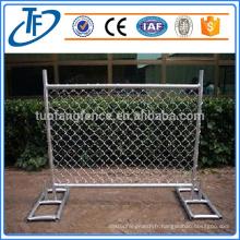 Clôture temporaire mobile galvanisée de haute qualité, fabricant professionnel