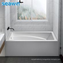 Seawin Bathroom Senior Square Adult Sitting Acrylic Bathtub For Adult
