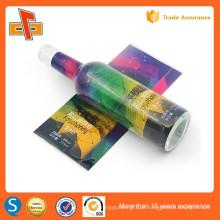Guangzhou impressão de fábrica e material de embalagem fornecedor personalizado sensível ao calor pvc shrink etiqueta de manga