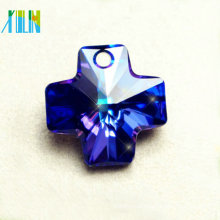 Glass crystal crossing beads crystal glass pendant