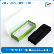 High quality cardboard flip top packing boxes with magnetic catch eva insert