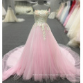 Pink Evening Gown Flower Lace Appliques Sleeveless Celebrity Long Evening Dresses 2018