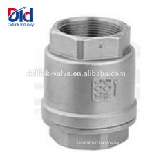 Pour le gaz 1, 2 clapets en acier inoxydable 8 clapet anti-retour manuel à air pneumatique à bascule fileté