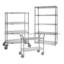 Chrom Stahl Wire Regal Warenkorb mit Wire Shelf