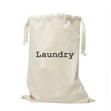 Large Capacity Print logo Canvas Laundry Bags Wash Storage Cotton Drawstring laundry bag