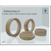 Runner bonder foundry ceramic thick-walled