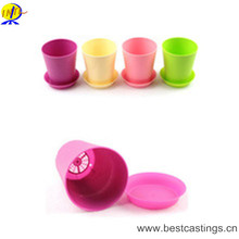 Round Plastic Flower Pot with Pallet Tray