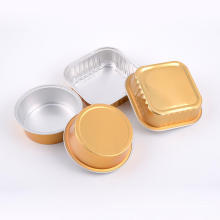Smooth wall aluminium foil cup for baking