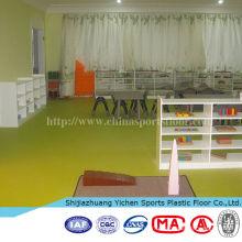 PVC plancher de vinyle pour l'utilisation de la maternelle anti-dérapant plancher imperméable ignifuge