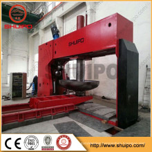 Hot sale SHUIPO Tank head flanging Machine Hydraulic Dished End Spinning Machine