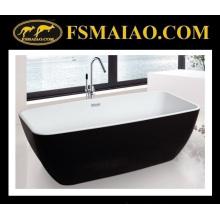 Portable Modern Acrylic Bathroom Bathtub White & Black (9010)