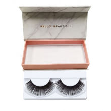 Wholesale marble luxury lash false eyelash packaging box  printing magnetic flip eyelash packaging paper box custom