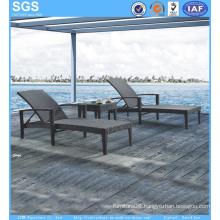 Outdoor Beach Furniture Hotel Poolside Rattan Sun Lounger