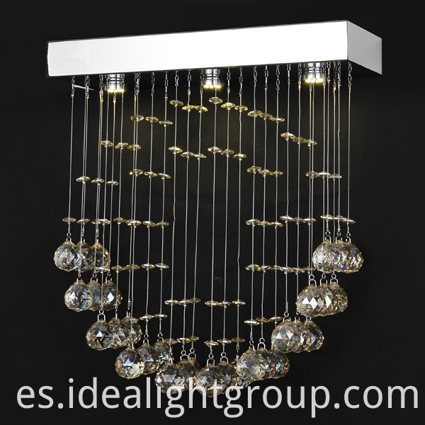 crystal led hanging lamp