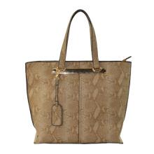 Popular Snake PU Handbag with High Quality Hardware