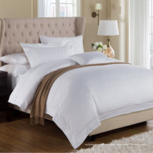 Roupa de cama lisa branca (WS-2016338)