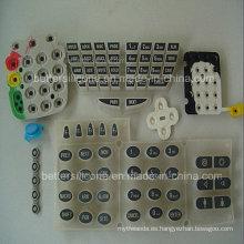 Elastómero Silk Screen Silicone Rubber Button Pad