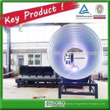 Metallic spiral corrugated drain conduit machine