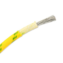 Dual core tin plated silicone fiberglass braid wire  20awg 22awg 24awg 26awg 28awg