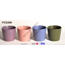 Ensemble de 4 pot de fleurs décoratifs