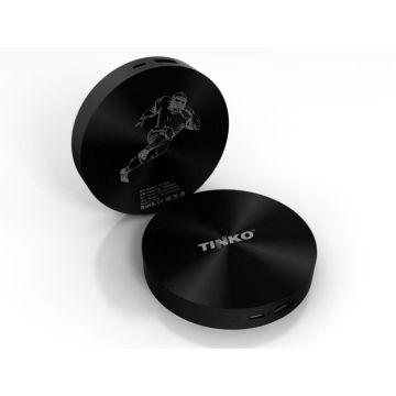 Superman TINKO rund und schwarz portable Powerbank hat Welt patent 5000mah