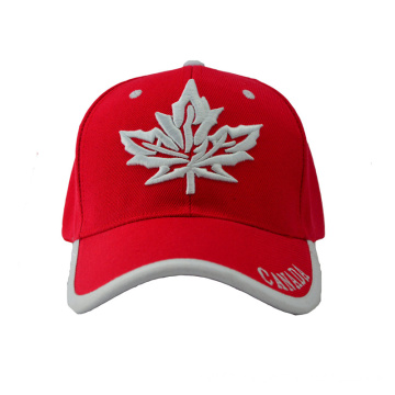 Six Panel Canada Baseball Cap with Special Bill (GKA01-F00066)