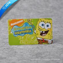 Étiquette en papier personnalisée mignonne / étiquette de Spongebob de logo de marque pour des vêtements d'enfants