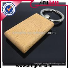 Porte-clés promotionnel en bois pas cher personnalisé