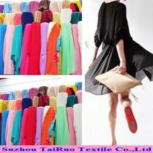 100% Polyester 100d Stoff Chiffon Sterben Stoff für Damen Kleid