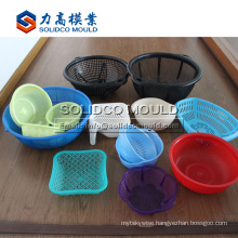 Good qulity plastic vegetable fruit rice washing drop basket mould kitchenware