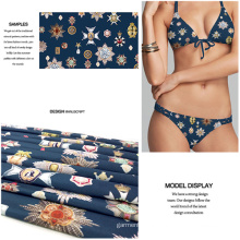 Digital Printing Polyester Knit Fabric for Swimwear and Jersey Dress