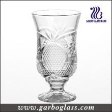 Estilo francés 6 oz taza de jugo de vidrio grabado (GB040606BL)