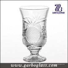 Coupe en verre à vin gravée à pied (GB040606BL)