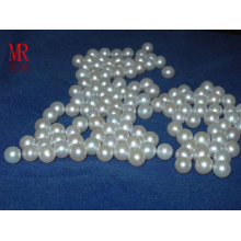 6-7mm weiße runde lose Perlen kein Loch