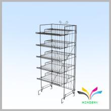 Großhandel kundenspezifischen Supermarkt Einzelhandel Boden stehenden Metall Obst und Gemüse Display Stand